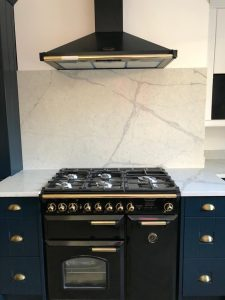 kitchen, hob and extractor